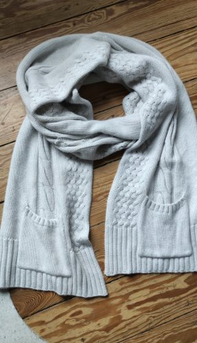 Bloom Cashmere Scarf light grey wool