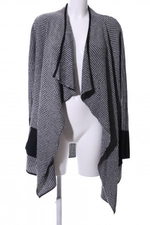 Bloom Strick Cardigan schwarz-weiß Allover-Druck Casual-Look