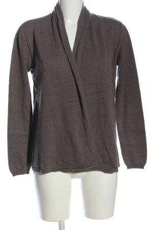 Bloom Cardigan in maglia marrone stile casual