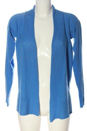Bloom Gebreide cardigan blauw casual uitstraling