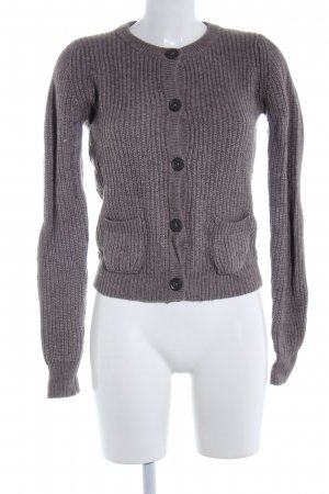 Bloom Strickjacke hellgrau meliert Casual-Look