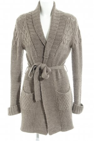 Bloom Strickjacke beige-hellbraun Webmuster Casual-Look