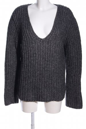 Bloom Strickpullover hellgrau meliert Casual-Look