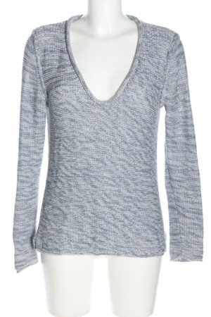 Bloom Strickpullover blau-weiß meliert Casual-Look