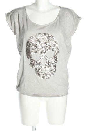 Bloom T-shirt jasnoszary W stylu casual
