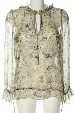 Bloom Blouse transparente motif abstrait élégant