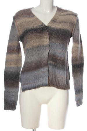Bloom Maglione di lana grigio chiaro-marrone stile casual