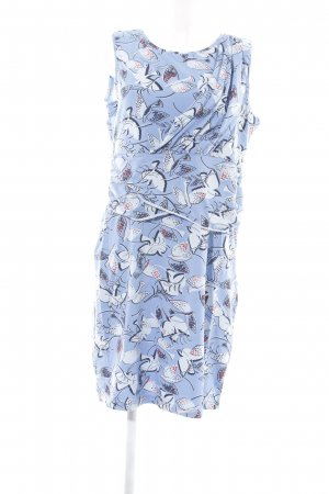 Bloomings Stretch Dress blue-natural white themed print casual look