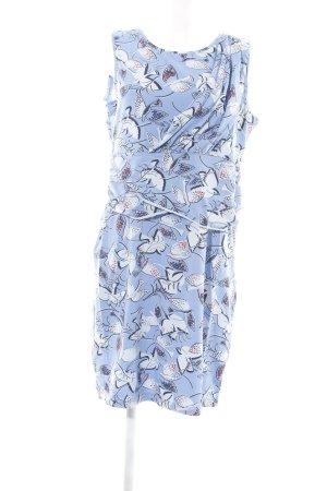 Bloomings Stretchkleid blau-wollweiß Motivdruck Casual-Look
