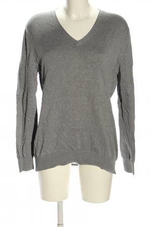 Bloomings V-Neck Sweater light grey flecked casual look