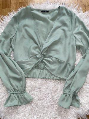 SheIn Blouse Top mint-sage green