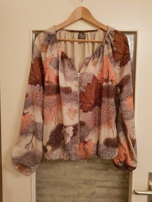Vero Moda Blusón marrón-blanco puro