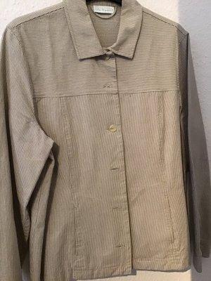 Selection by Ulla Popken Blazer in jeans beige chiaro-grigio-verde