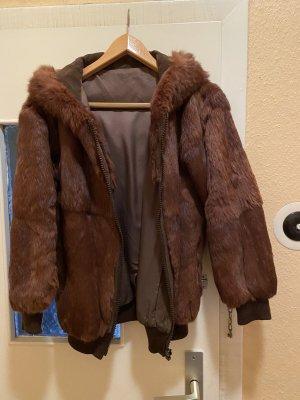 Futrzana kurtka brązowy