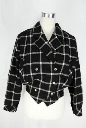 Blouson white-black wool