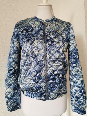 Blouson Jacke Blaues Fliesenmuster