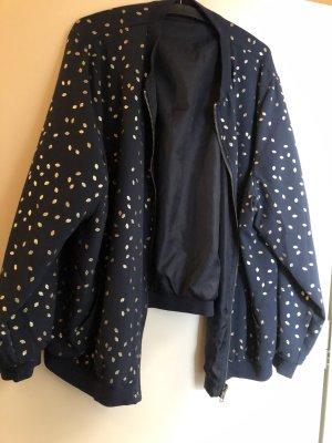 Blusón azul oscuro-color oro