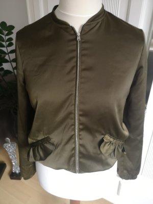 Blouson mit Rüschen khaki Zara