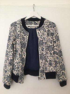 Blouse Jacket white-dark blue