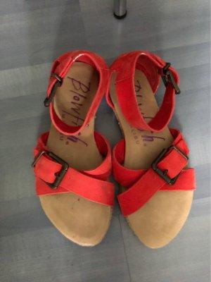 Blowfish Espadrille sandalen rood-room
