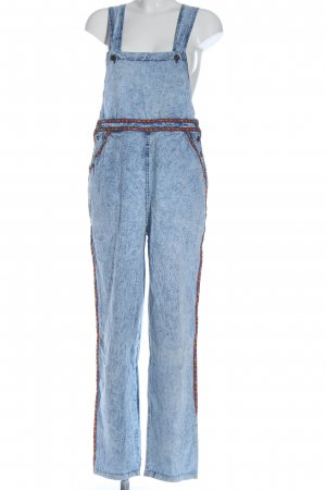 BlowOut Dungarees blue graphic pattern casual look