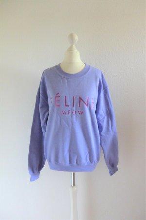 BLTEE Brian Lichtenberg Féline Meow Sweatshirt flieder lila Gr. S 36/38