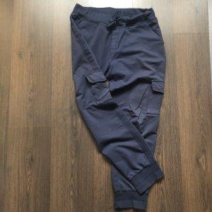 blue Spodnie sportowe ciemnoniebieski