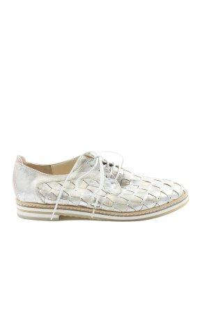 Blubella Chaussure Oxford argenté style décontracté