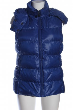 bludeise Quilted Gilet blue quilting pattern casual look