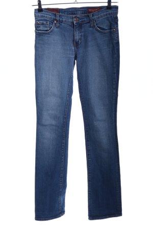 Hüftjeans blau Casual-Look