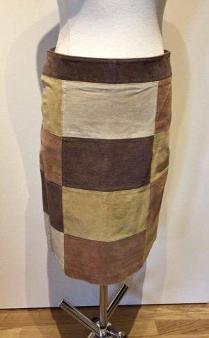 Blue Asphalt Skórzana spódnica Wielokolorowy