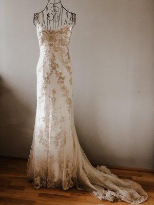 Enzoani Blue Wedding Dress natural white