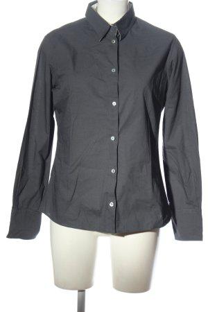blue collar Shirt met lange mouwen lichtgrijs zakelijke stijl
