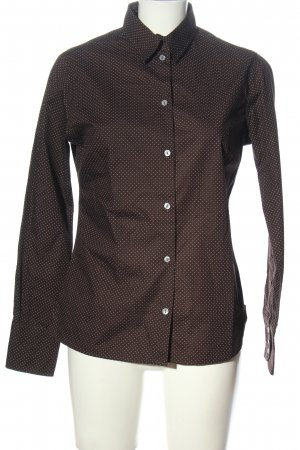 blue collar Shirt met lange mouwen bruin volledige print zakelijke stijl