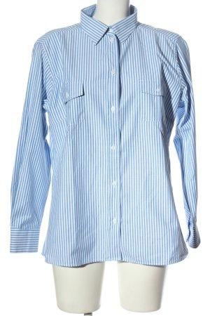 blue collar Shirt met lange mouwen blauw-wit gestreept patroon