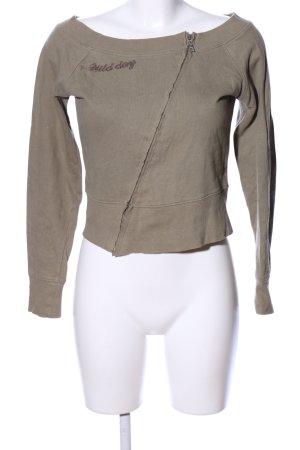 BLUE COLLECTION Sweatshirt khaki prints met een thema casual uitstraling
