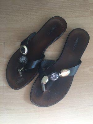 Blue Cox Flip-Flop Sandals dark brown-black leather