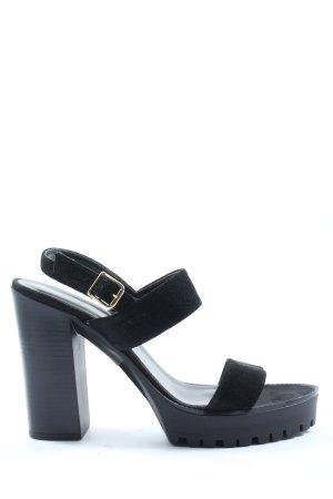 Blue Cox Platform High-Heeled Sandal black casual look