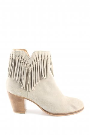 Blue Cox Platform Booties natural white casual look