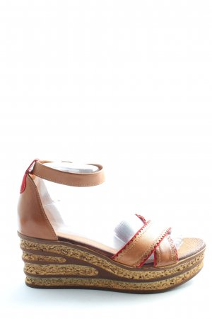 Blue Cox Wedge Sandals nude casual look