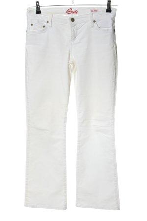 Blue Cult Pantalon cinq poches blanc style décontracté