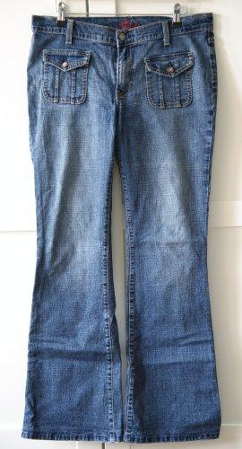 Blue Cult Jeansowe spodnie dzwony niebieski