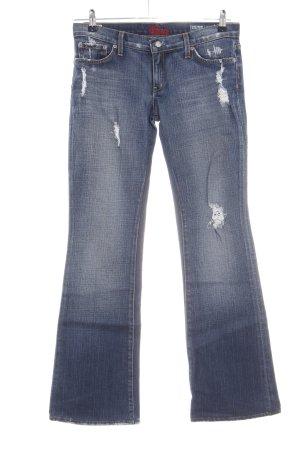 Blue Cult Jeansowe spodnie dzwony niebieski W stylu casual