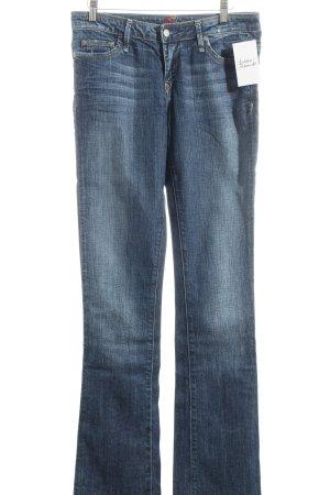 Blue Cult Jeans coupe-droite bleu foncé Application de logo
