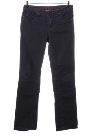 Blue Fire Jeansy o kroju boot cut czarny W stylu casual