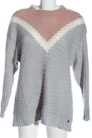 Blue Fire CO Kraagloze sweater kabel steek casual uitstraling