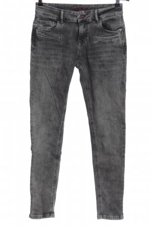 Blue Fire CO Skinny jeans lichtgrijs gestippeld casual uitstraling