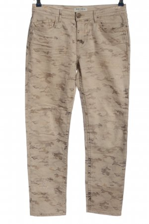 Blue Fire Slim Jeans Camouflagemuster Casual-Look