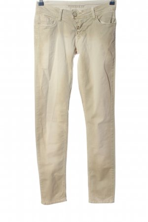 Blue Fire Lage taille broek wolwit casual uitstraling