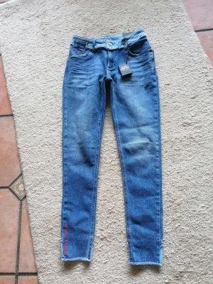 Blue Fire Stretch Jeans cornflower blue